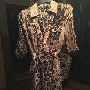 Animal print mid length dress. Never worn